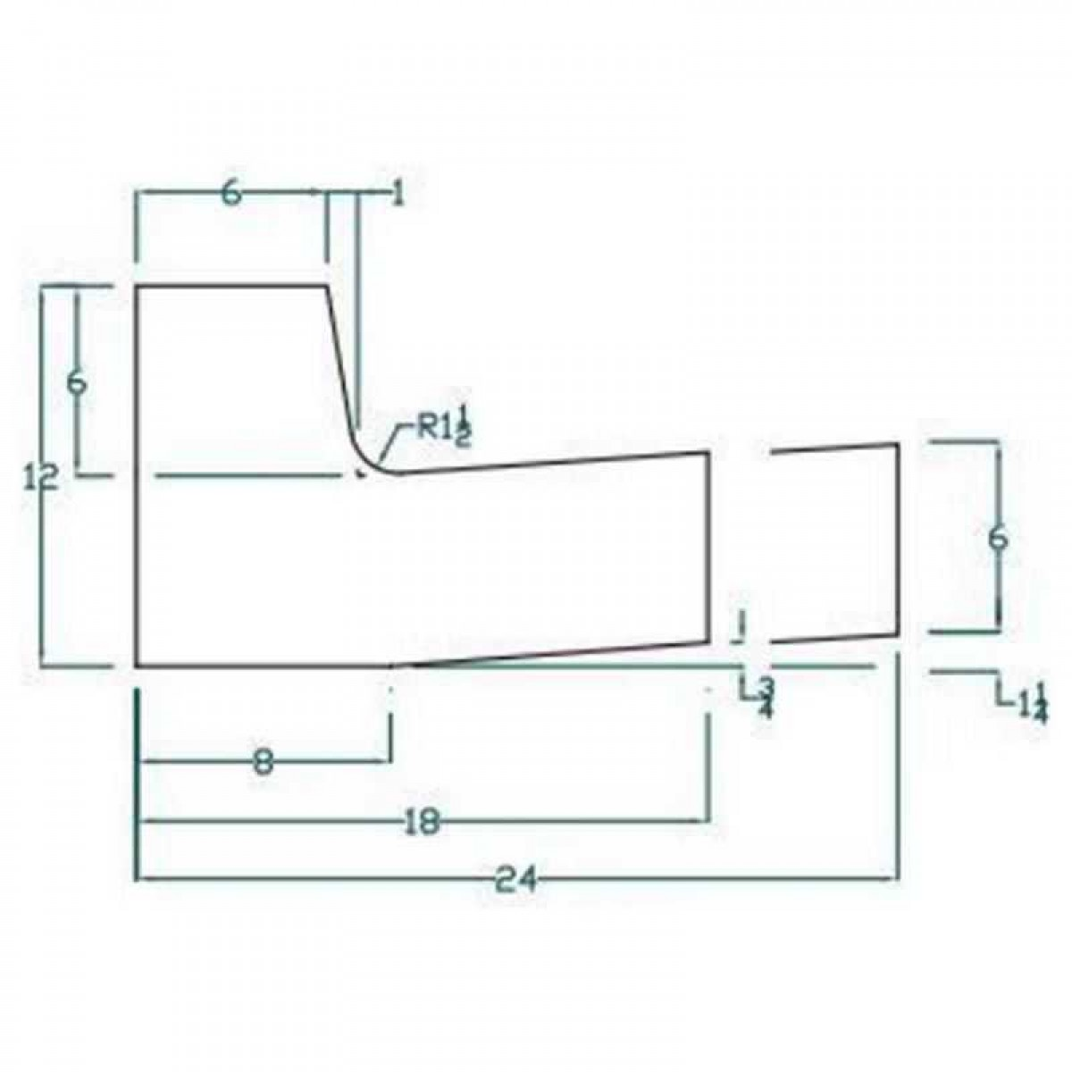 J Curb 24 Quot In Flow Curb And Gutter Concrete Form Kit 10ft