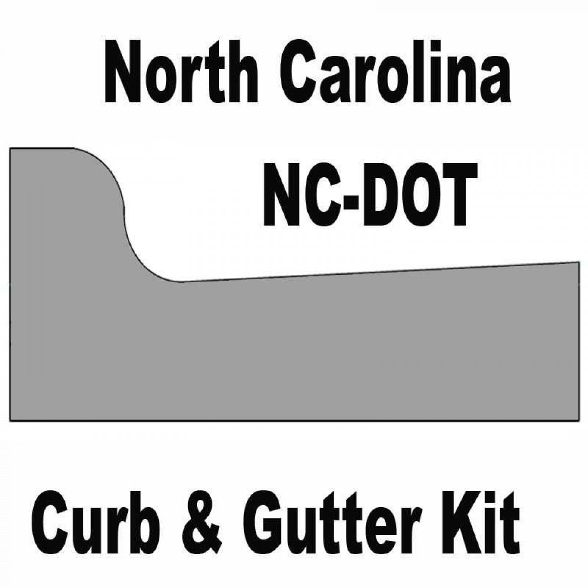 Ncdot North Carolina Curb And Gutter Concrete Form Kit 10ft