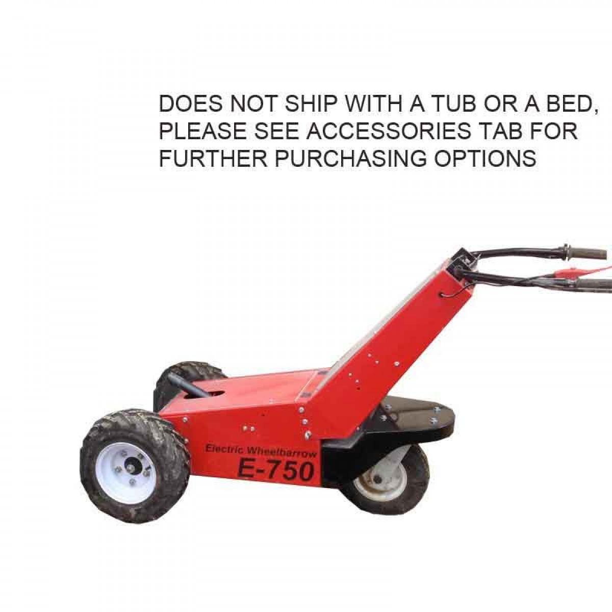 Power pusher e 750 electric power wheelbarrow for sale for Motorized wheelbarrows for sale