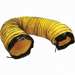 "Frost Fighter 47104 16"" x 25ft Yellow Poly (RETURN) Duct - Bottom w/ Belt Cuff"