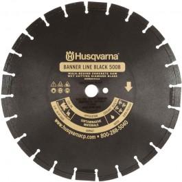 """Husqvarna 14"""" Standard Black 500B-R Banner Line  Asphalt Wet Saw Blade-542751074"""