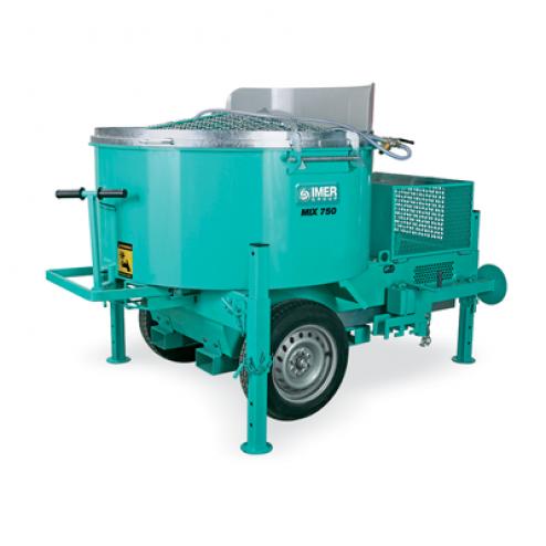 IMER Mix 750 (Mortarman) Steel Drum Series Mortar Mixer