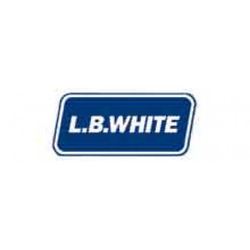 LB White 23053 Perforated 100' White Distribution Duct