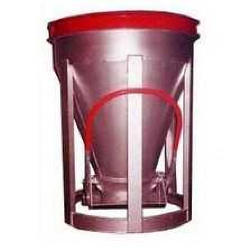 1 Yard Low Slump Aluminum Concrete Bucket BB-10-LS