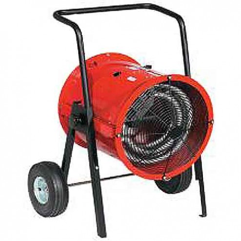 Flagro DRA-15-23 15KW Portable Spot Industrial 3 Phase Electric Heater