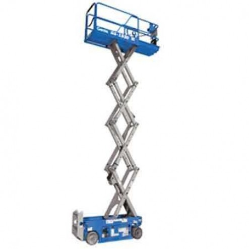 Genie GS-1930 Electric Scissor Lifts(fixed rails with chain entry gate)