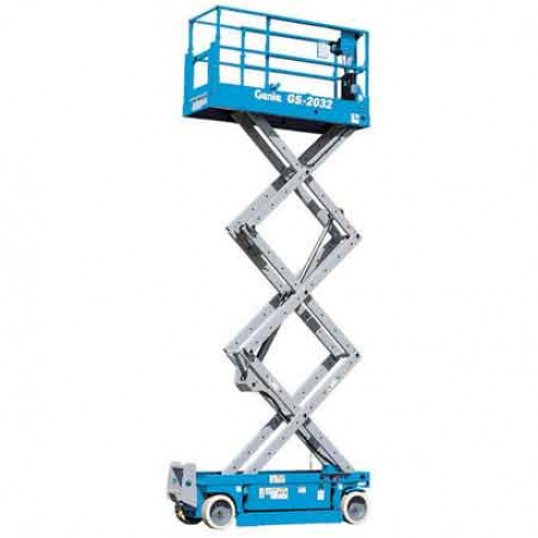 Genie GS-2032 Electric Scissor Lifts(fixed rails with chain entry gate)