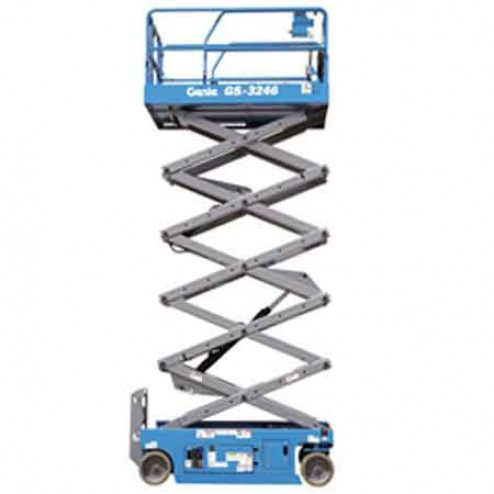 Genie GS-2046 Electric Scissor Lifts (folding rails with full height swing gate)