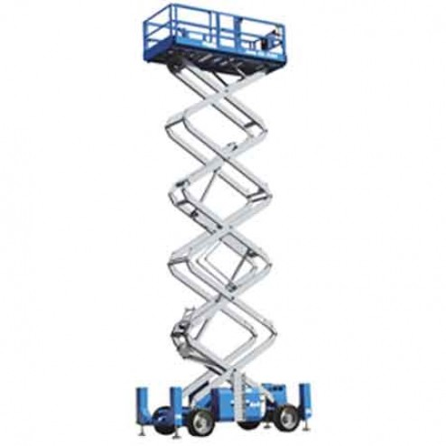 Genie GS-5390 RT Rough Terrain Scissor Lifts w/ automatic leveling hydraulic outriggers