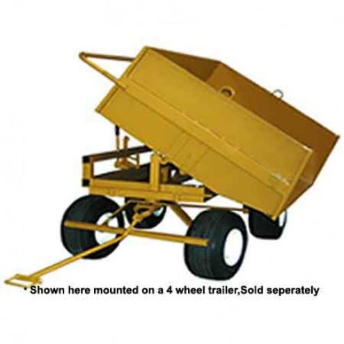 ASE 4-Wheel Trailer - Dump Tray Attachment