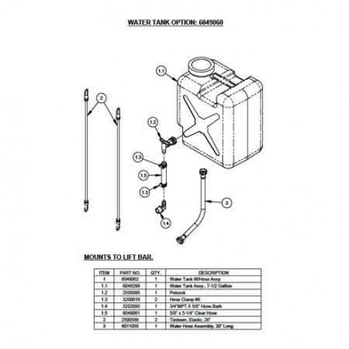 Water Tank Kit for CC1300XL Saws 6049050 Diamond Products