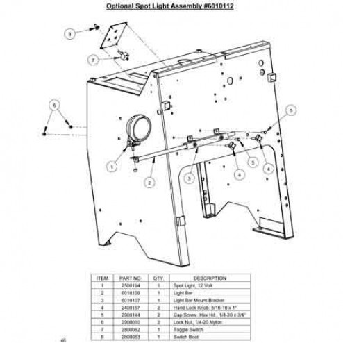 Spot light for CC3500 Saws 6010112 Diamond Products