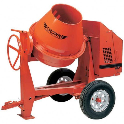 Crown 9 cu/ft C9 Steel Drum Series Concrete Mixer
