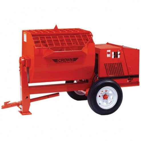Crown 12 cu/ft 12SH Steel Drum Series Hydraulic Mortar Mixer