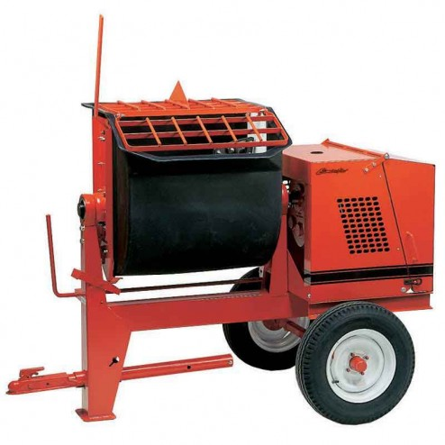 Crown 6 cu/ft 6PR Poly Drum Series Mortar Mixer