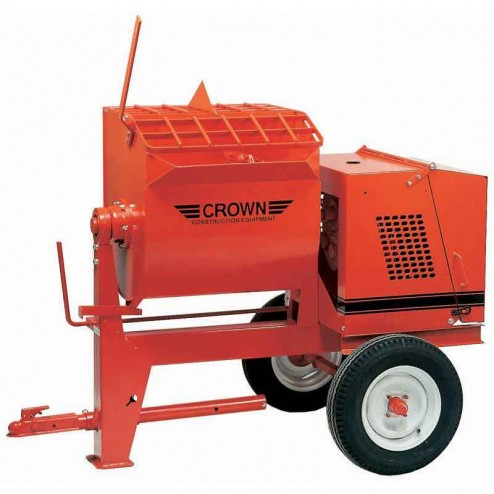 12 cu/ft Mortar Mixer 5HP Electric 12S-E51 Spiral by Crown Ball Hitch