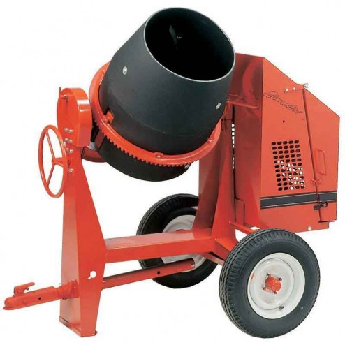 Crown 6 cu/ft C6P Poly Drum Series Concrete Mixer