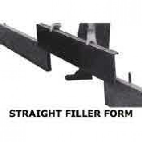 "10"" Straight Concrete Filler Form"