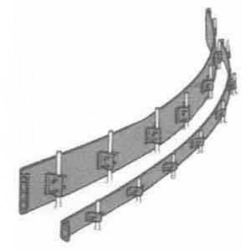 """Dee Concrete 9""""X 10 ft Steel Flexible Concrete Form 507-9"""