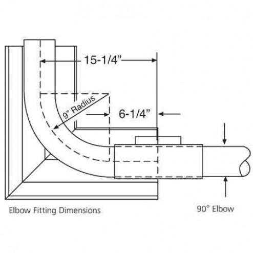 HeatStar 90 deg Elbow Kit for Tube Heaters-F106415