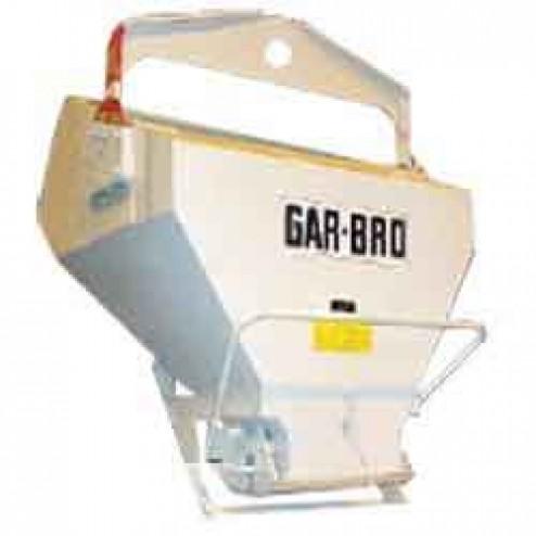 1 Yard Laydown Concrete Bucket 436-L by Gar-Bro
