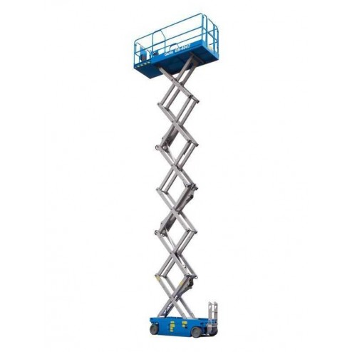 Genie GS-4047 Electric Scissor Lift w/folding rails with full height swing gate