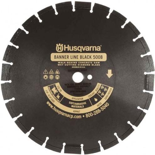 "Husqvarna 26"" Standard Black 500B-R Banner Line  Asphalt Wet Saw Wide Notch Blade-542751082"