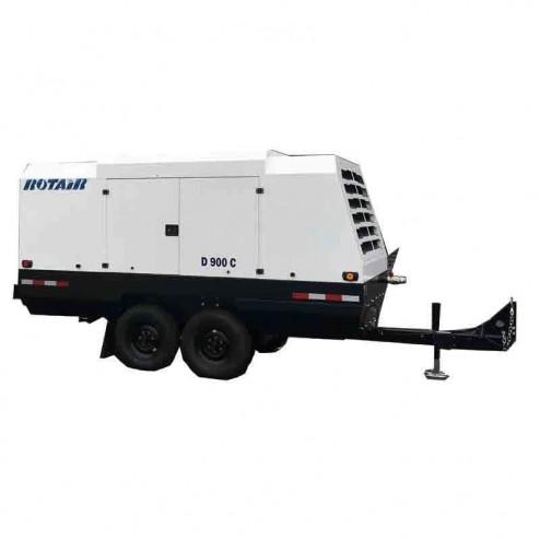 Rotair D900C 900 cfm Portable 264 HP Turbocharged Diesel Powered Air Compressor