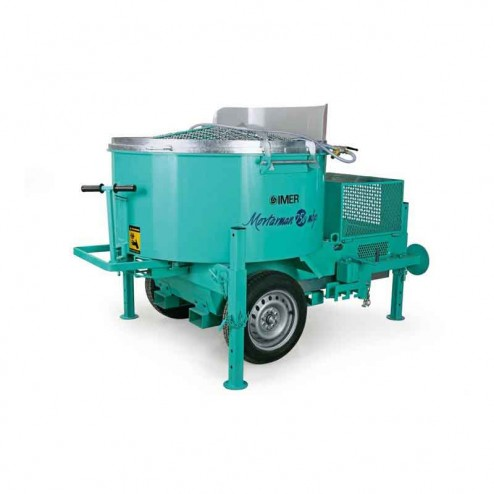 Imer Mortarman 750 Steel Drum Series Mortar Mixer