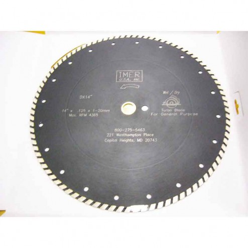 "IMER DX7 Series 4"" Turbo Wet and Dry Cut Diamond Blade"