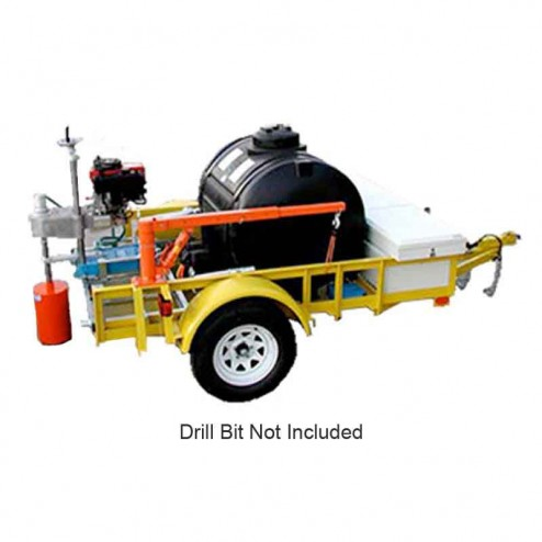 """Kor-it Inc K-165-G17 16"""" Trailer Mounted 17.5HP Gasoline Core Drill W/ Trailer and KOR VAC"""