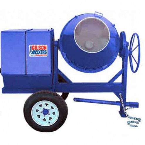 6 cu/ft Electric Poly Concrete Mixer 600CM-PL 1.5HP by Cleform Gilson