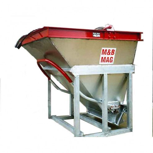 1/2 Yard Bond Beam Aluminum Concrete Bucket SB-5 M&B Mag