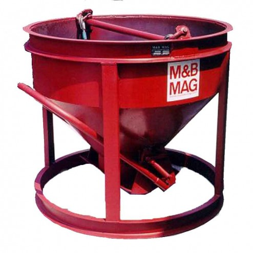 1 Yard Steel Concrete Bucket SBB-10 by M&B Mag