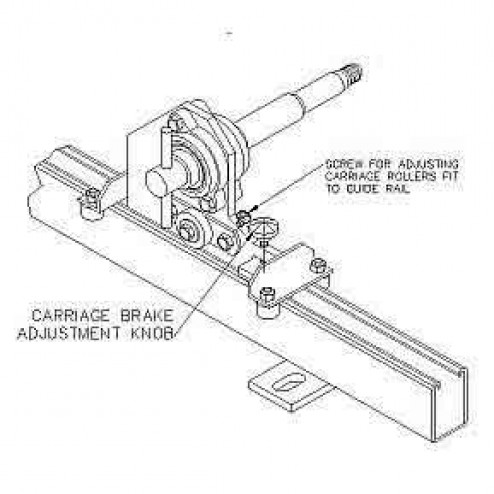 "RGC Wall Mount Hydrasaw 39"" Guide Kit"