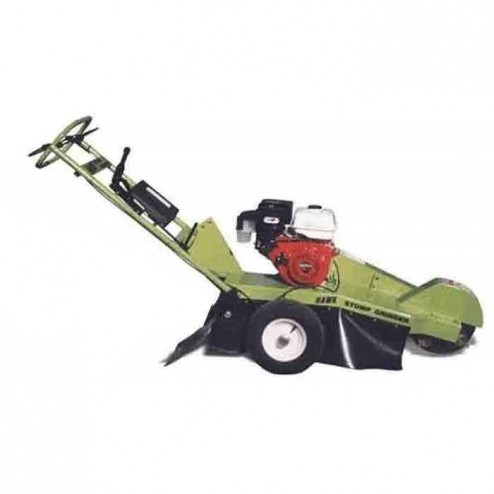 Hawk stump grinder with 13 HP Honda pull start engine with towpack