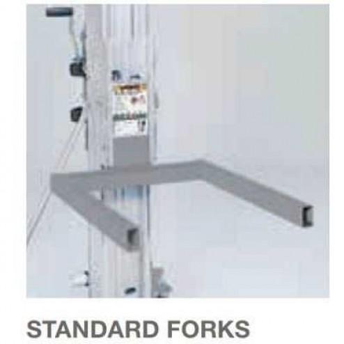 Genie Optional Adjustable forks with standard forks for SLC Lifts