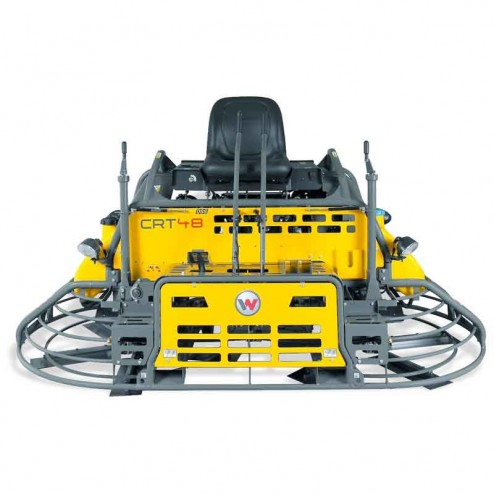 "Wacker 96"" Unleaded Gas Non-Overlapping Ride-On Trowel CRT48-33K"