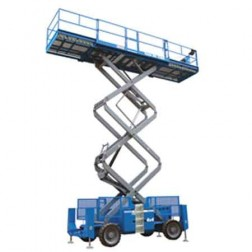 Genie GS-3390 RT Rough Terrain Scissor Lifts w/oscillating axle