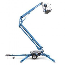 Genie TZ-50 Hybrid (DC and Gas) Trailer Mounted Z-Boom Lift