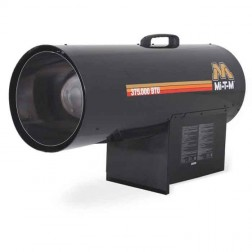 Mi-T-M 375,000 BTUs Forced Air Propane(LP) Heater MH-0375-LM10