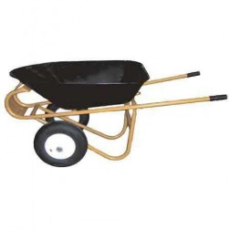 "ASE Wheelbarrow with 18 x 8.5 x 1"" Wheels"