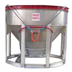 1 Yard Aluminum Concrete Bucket BB-10 by M&B Mag