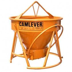 1-1/2 Yard Steel Concrete Bucket Lite'N'Tuff by Camlever