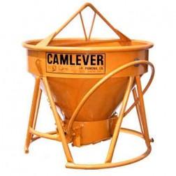 1-1/2 Yard Steel Concrete Bucket Lite'N'Tuff by Camlever
