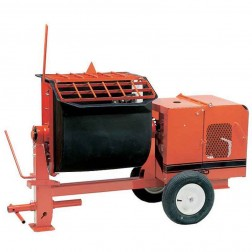 4 cu/ft Poly Mortar Mixer 5.5 HP Honda 4S-GH5 by Crown Ball Hitch