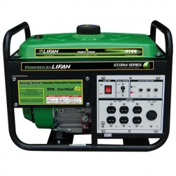 Lifan Energy Storm ES4100E Generator w/ Electric Start Wheels - Carb