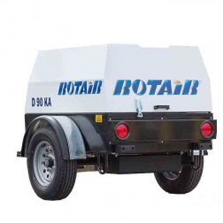 Rotair D90KA 90cfm Kubota Diesel Towable Air Compressor