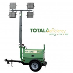 GHS Greenfire H100-4 LED Hybrid Mobile Light Tower