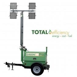 GHS Greenfire H100-2 LED Hybrid Mobile Light Tower
